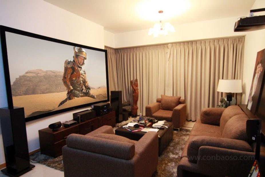 Optoma HD 90 trong một phòng chiếu phim tại gia ở Sai Gon Pearl