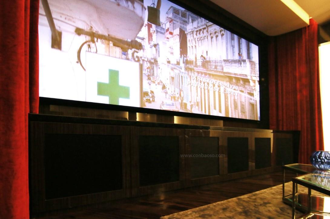 Phòng chiếu phim chuẩn THX cùng máy chiếu Sony 4K HDR tại Vinhome