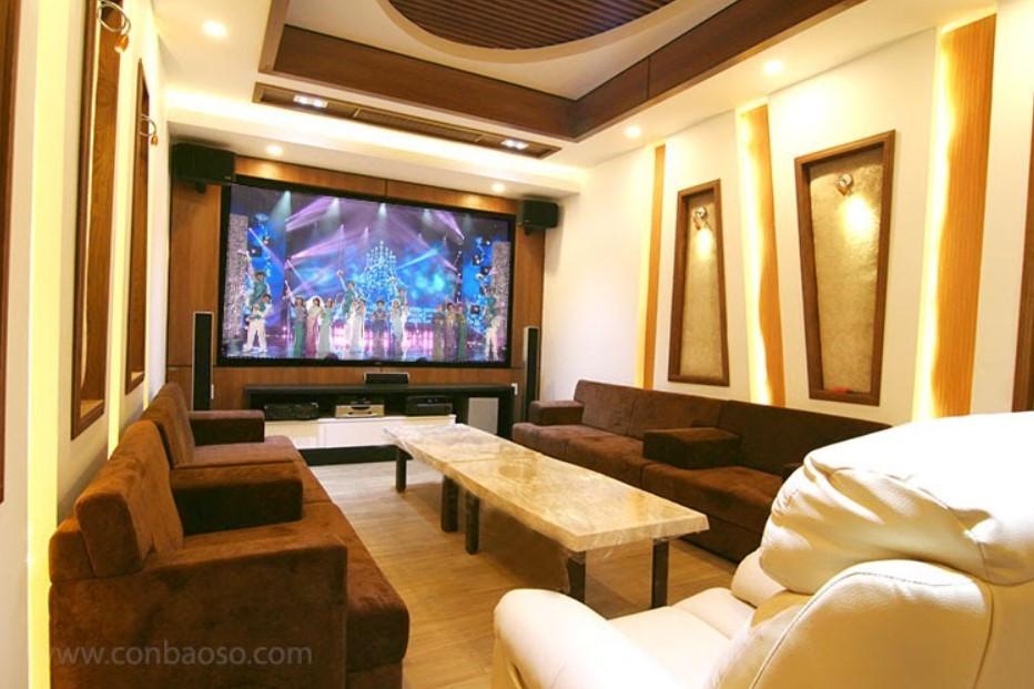 Phòng chiếu phim tại gia cao cấp trong khu biệt thự Thạnh Xuân, quận 12