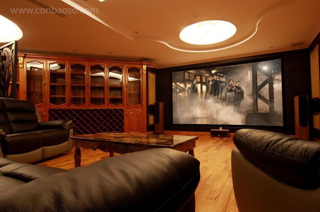 Phòng chiếu phim tại gia ở khu Nam Long, quận 7
