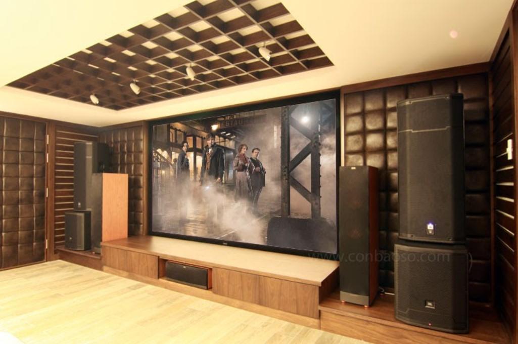 phòng chiếu phim 3D kết hợp karaoke sân khấu