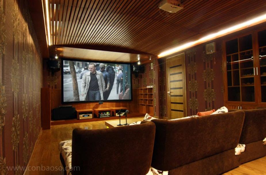 Phòng chiếu phim tại gia trong khu biệt thự River Mark, quận 2