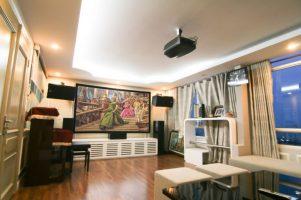 phòng giải trí tại gia sử dụng hệ thống Dolby Atmos loa Piega Classic